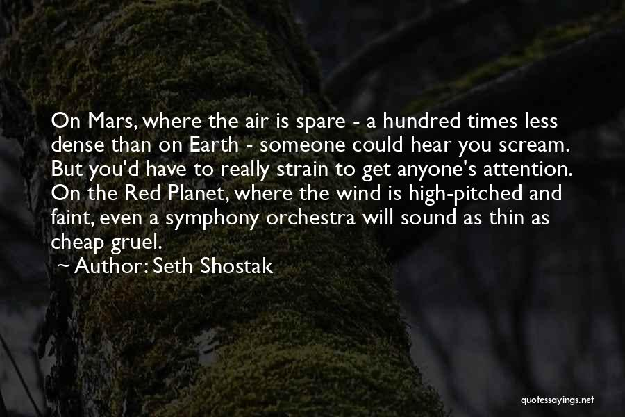 High Times Quotes By Seth Shostak