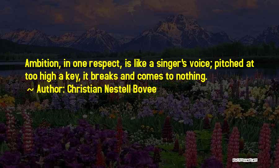 High Voice Quotes By Christian Nestell Bovee