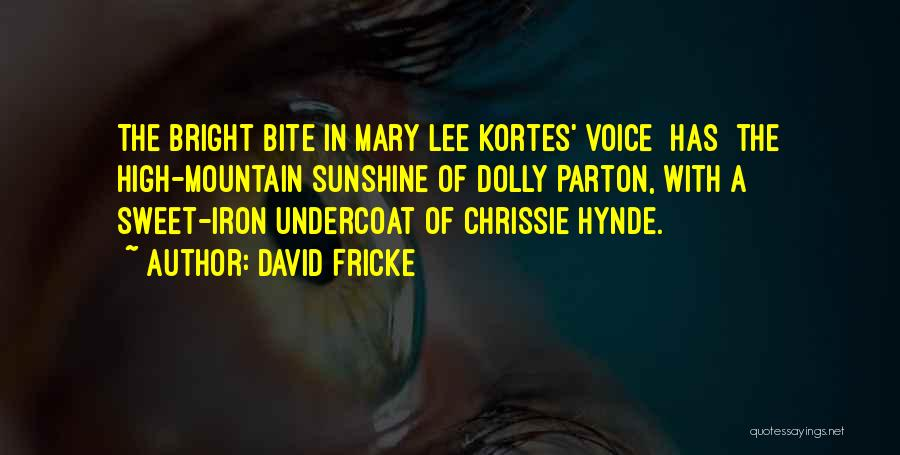 High Voice Quotes By David Fricke