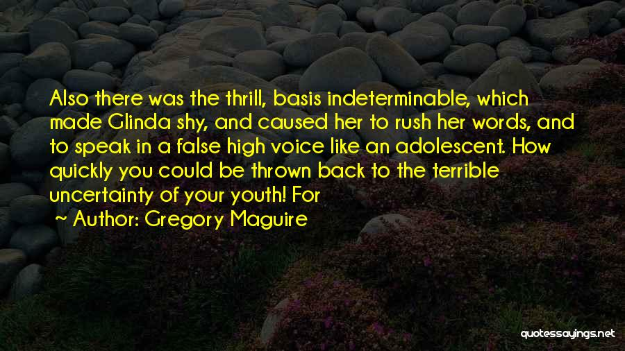 High Voice Quotes By Gregory Maguire