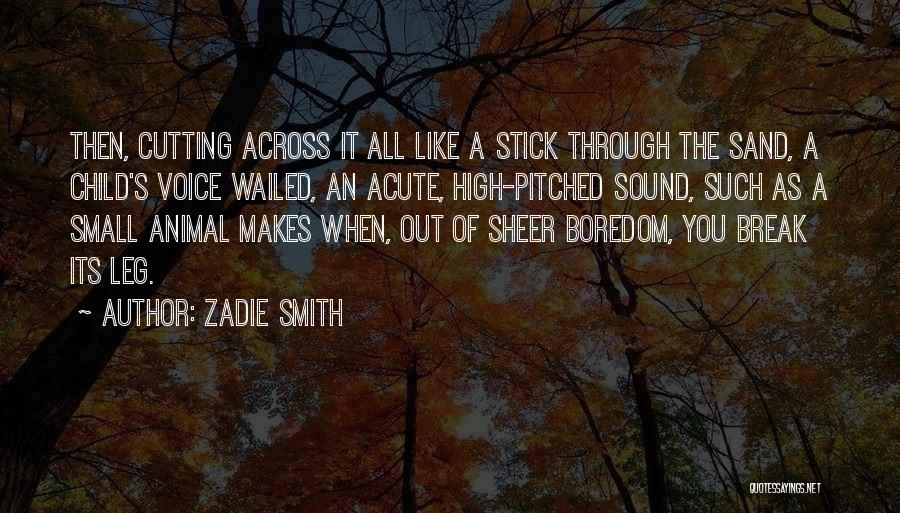 High Voice Quotes By Zadie Smith