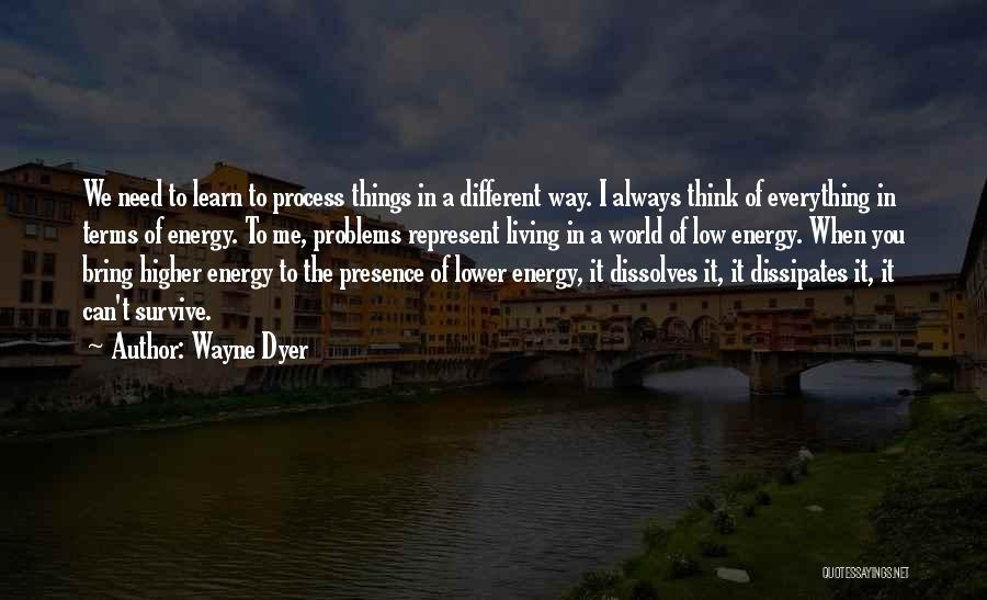 Higher Thinking Quotes By Wayne Dyer