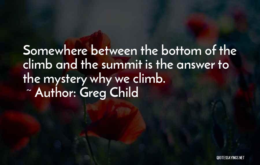 Hiking Climbing Quotes By Greg Child