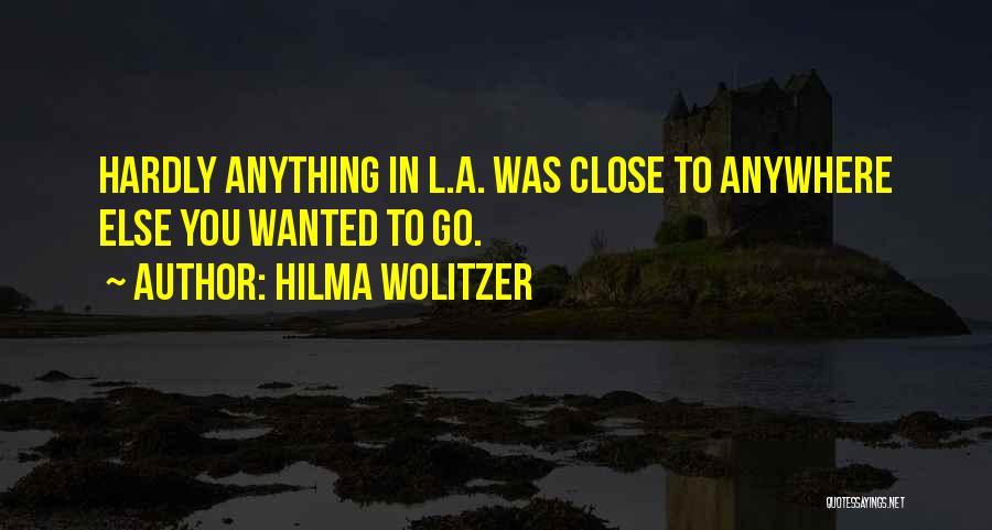 Hilma Wolitzer Quotes 960746