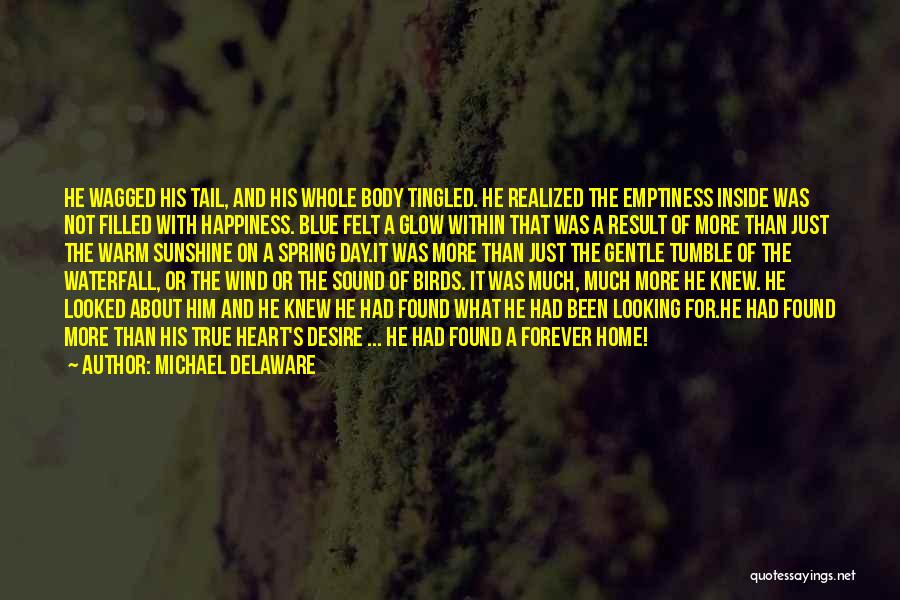 Him And Happiness Quotes By Michael Delaware
