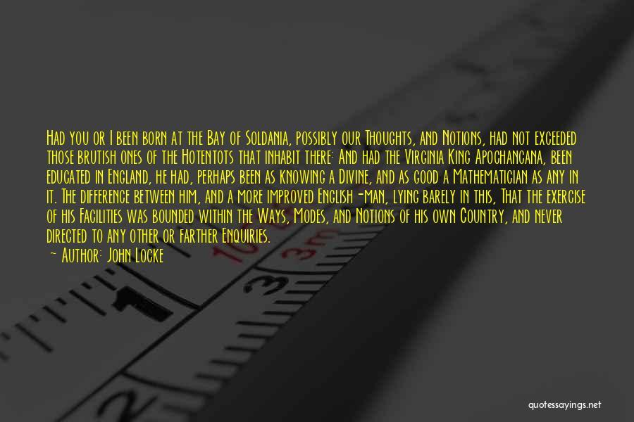 Him Lying Quotes By John Locke