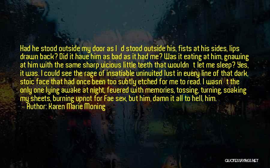 Him Lying Quotes By Karen Marie Moning