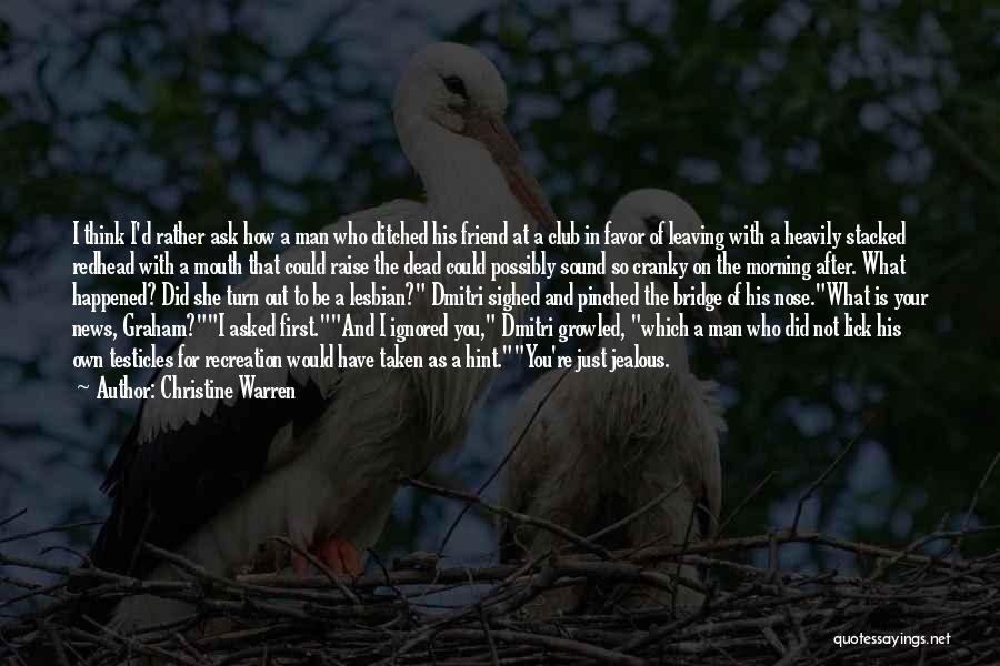 Hint Taken Quotes By Christine Warren