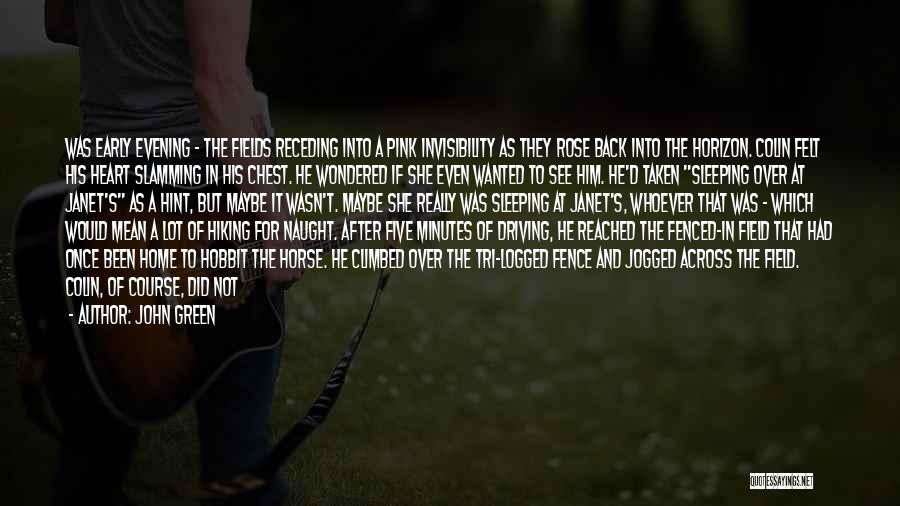 Hint Taken Quotes By John Green