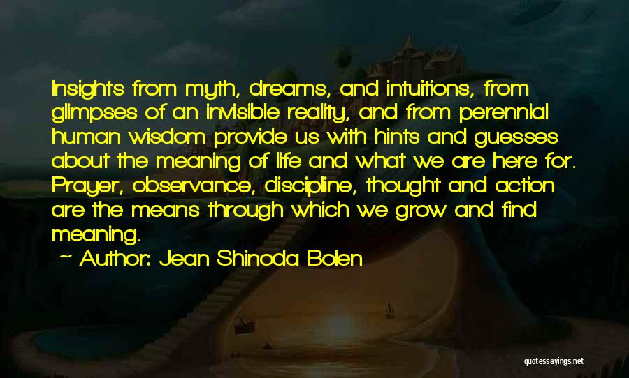 Hints Of Life Quotes By Jean Shinoda Bolen
