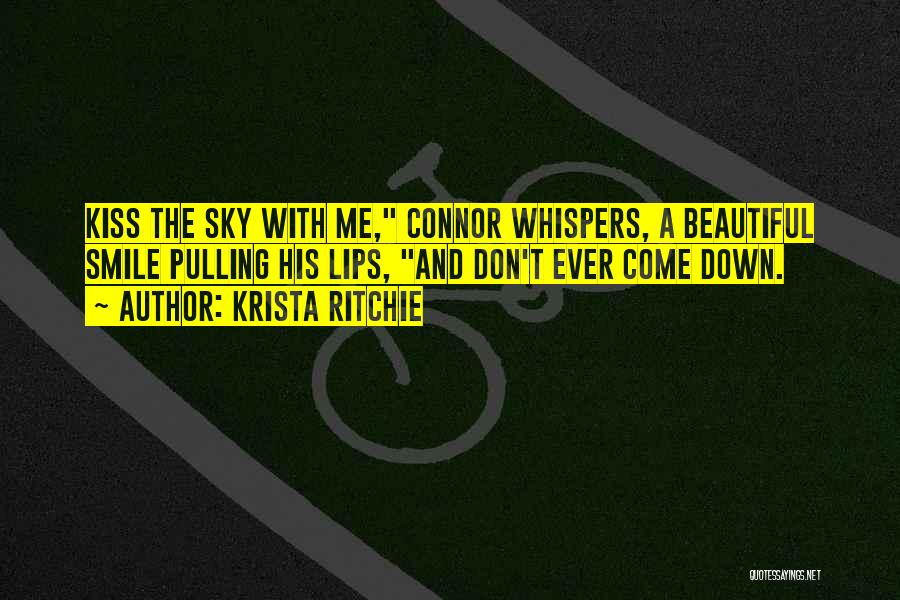 His Beautiful Smile Quotes By Krista Ritchie
