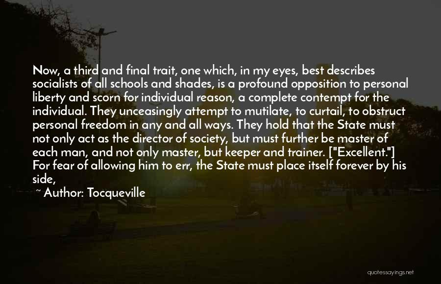 His In A Better Place Quotes By Tocqueville