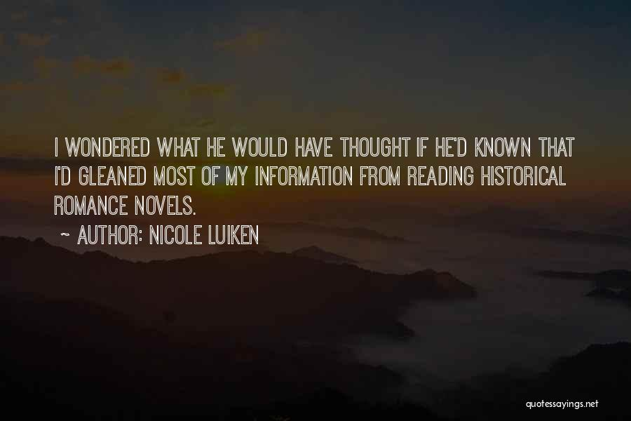 Historical Romance Novels Quotes By Nicole Luiken