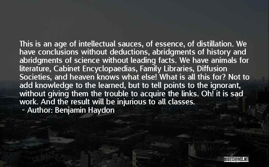 History And Knowledge Quotes By Benjamin Haydon
