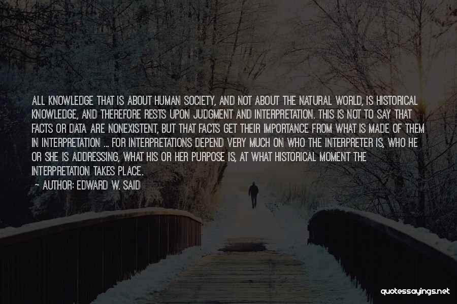 History And Knowledge Quotes By Edward W. Said