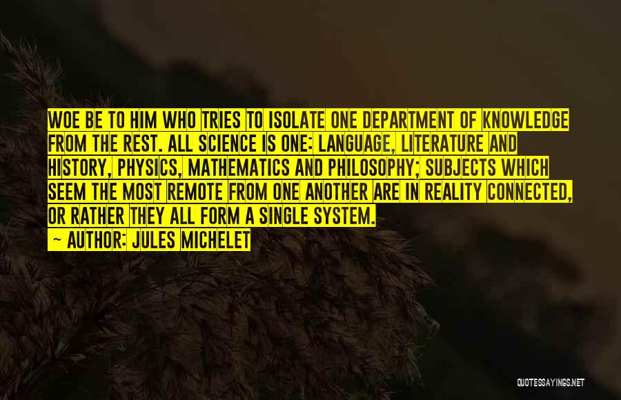 History And Knowledge Quotes By Jules Michelet