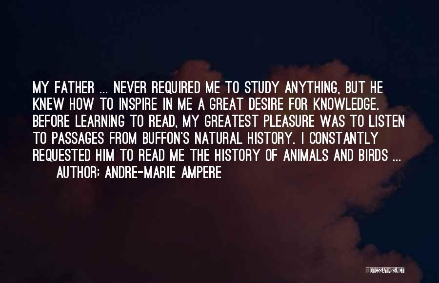 History And Learning Quotes By Andre-Marie Ampere
