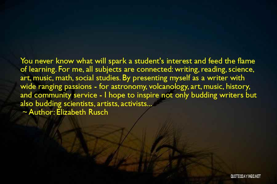 History And Learning Quotes By Elizabeth Rusch