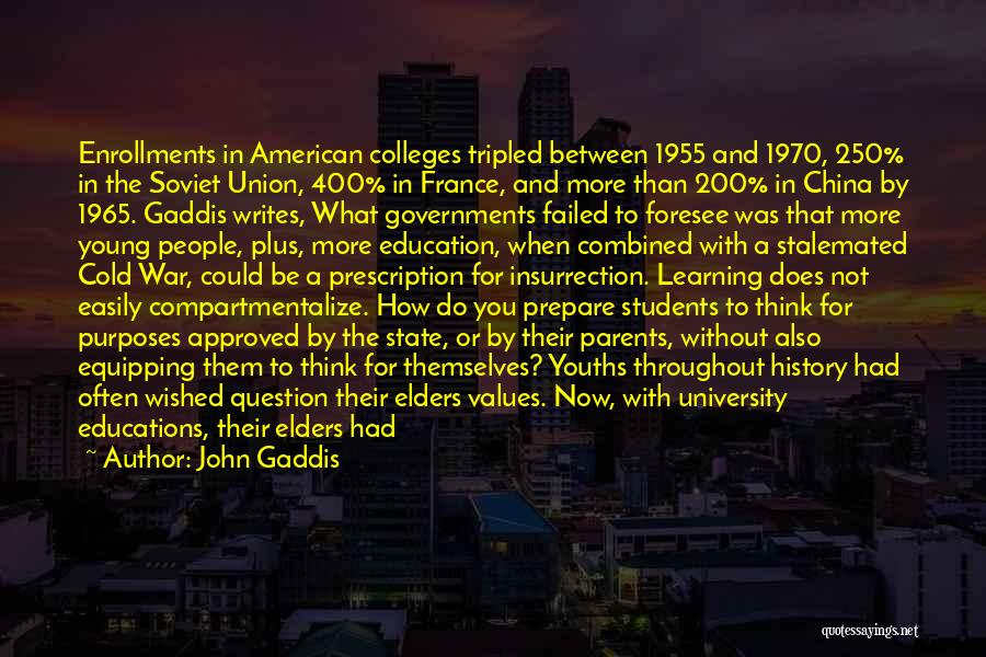 History And Learning Quotes By John Gaddis