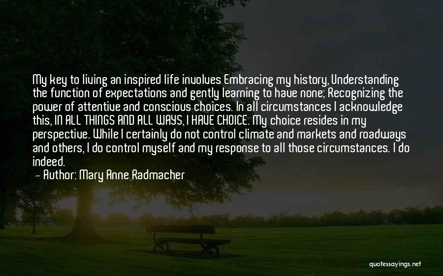 History And Learning Quotes By Mary Anne Radmacher
