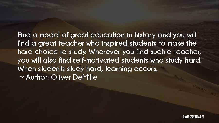 History And Learning Quotes By Oliver DeMille