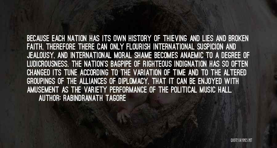 History And Music Quotes By Rabindranath Tagore