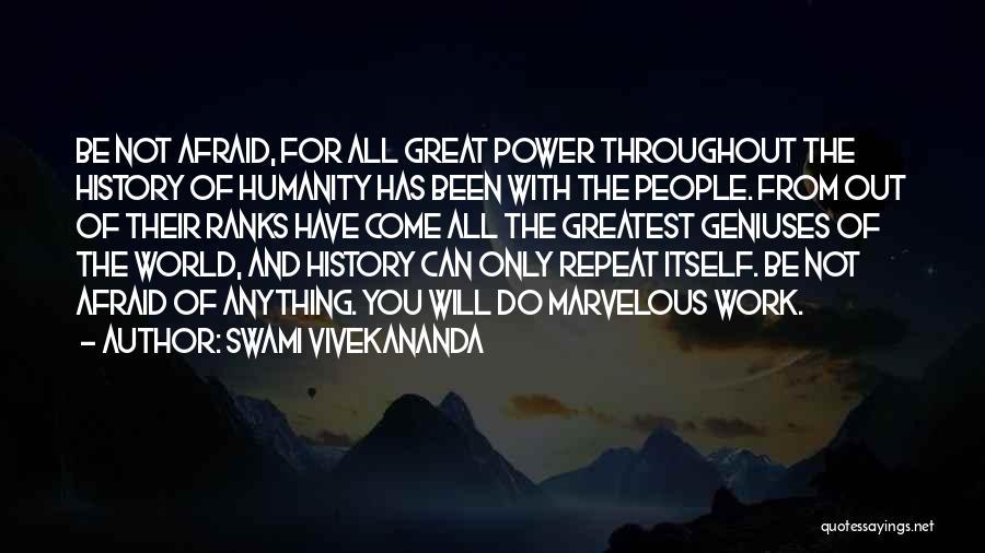 History Repeat Itself Quotes By Swami Vivekananda