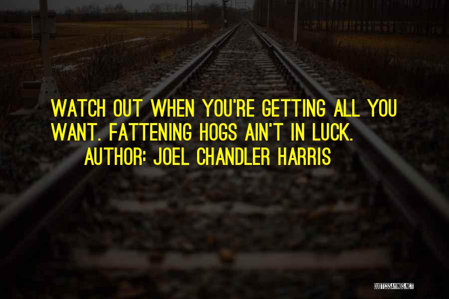 Hogs Quotes By Joel Chandler Harris