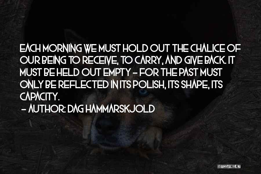 Hold Onto Faith Quotes By Dag Hammarskjold