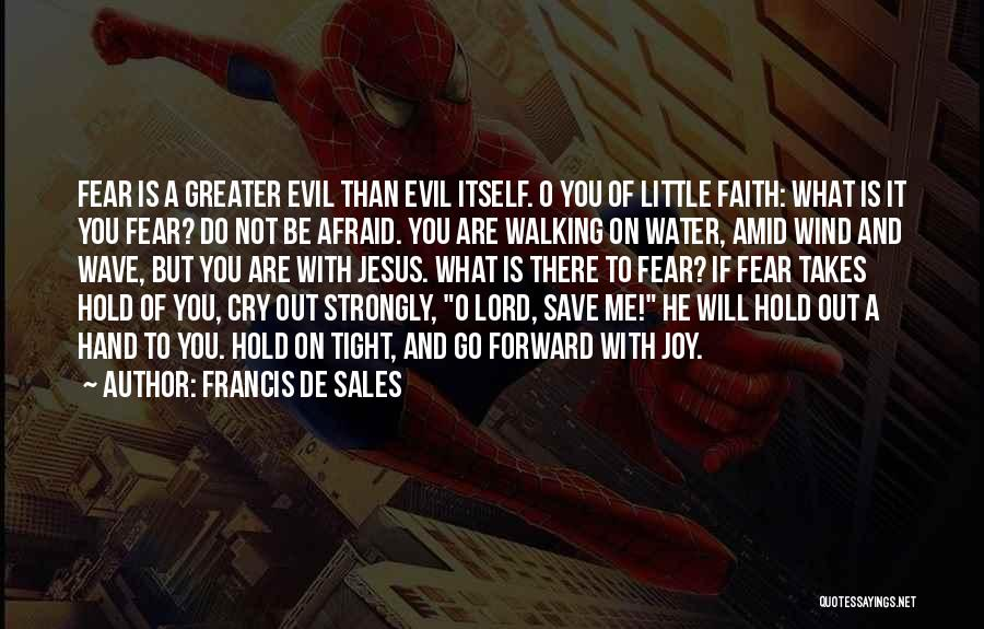 Hold Onto Faith Quotes By Francis De Sales