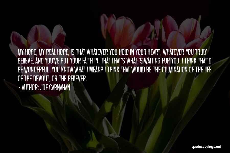 Hold Onto Faith Quotes By Joe Carnahan