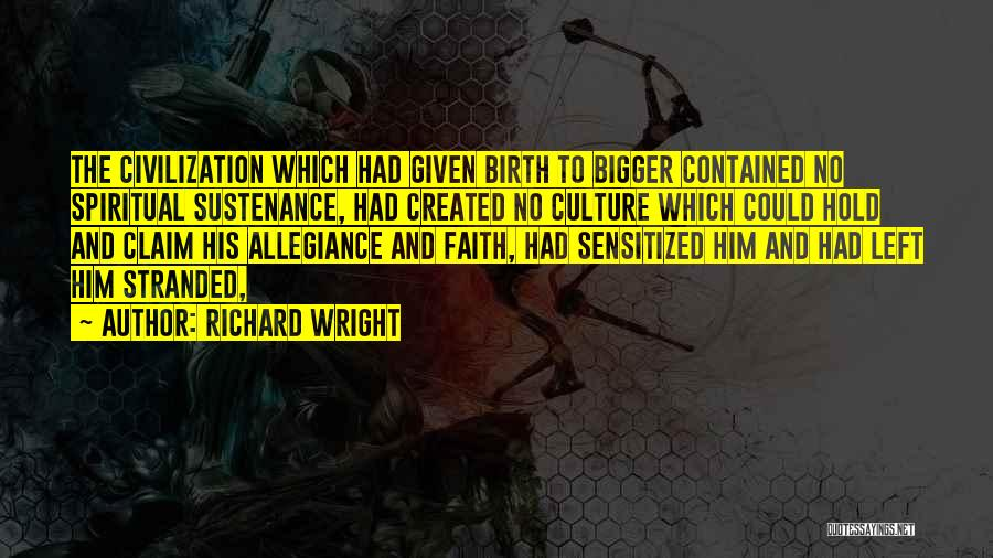 Hold Onto Faith Quotes By Richard Wright
