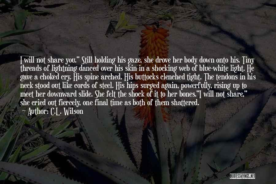 Holding Tight Quotes By C.L. Wilson