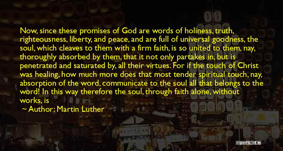 Holiness And Righteousness Quotes By Martin Luther