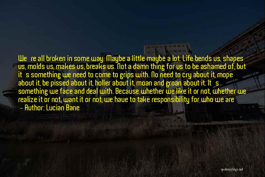 Holler Quotes By Lucian Bane