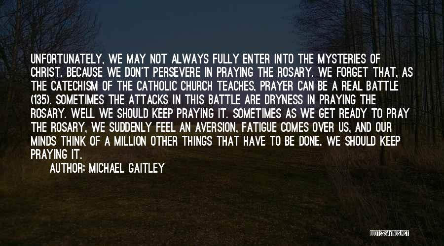 Holy Rosary Quotes By Michael Gaitley