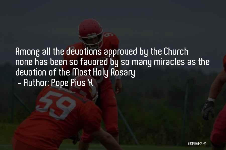 Holy Rosary Quotes By Pope Pius X