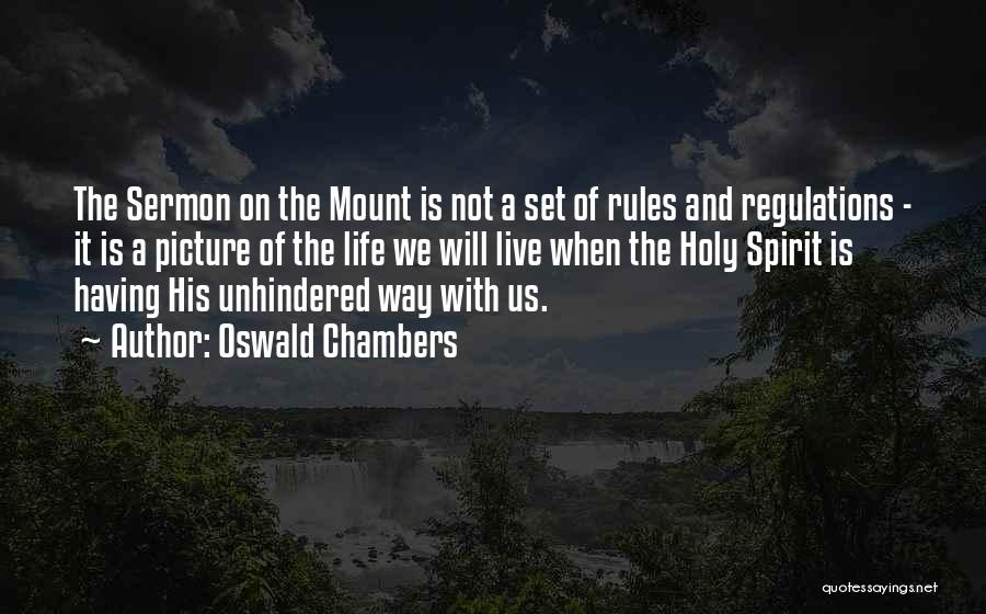 Holy Spirit Picture Quotes By Oswald Chambers