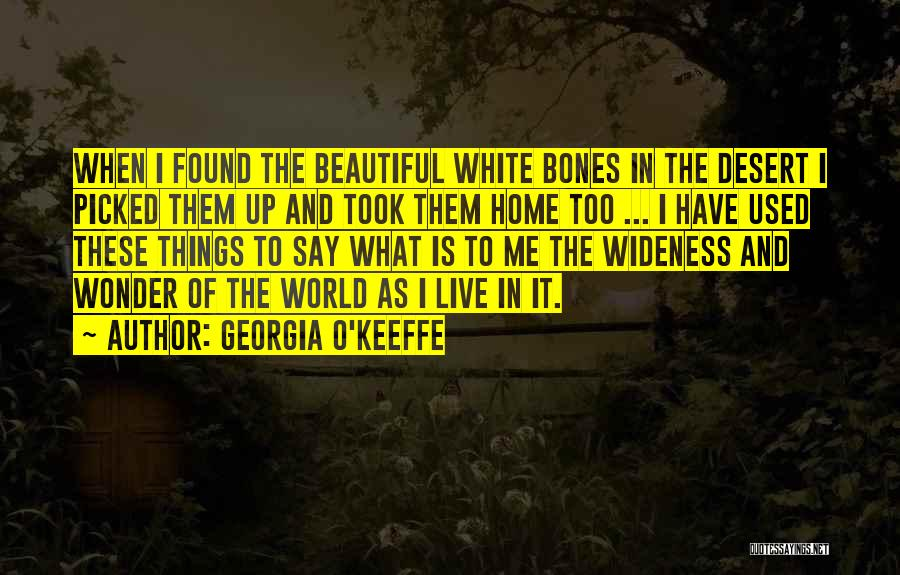 Home Is Beautiful Quotes By Georgia O'Keeffe