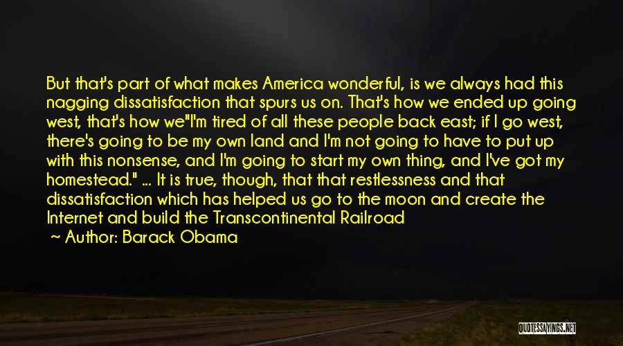 Homestead Quotes By Barack Obama