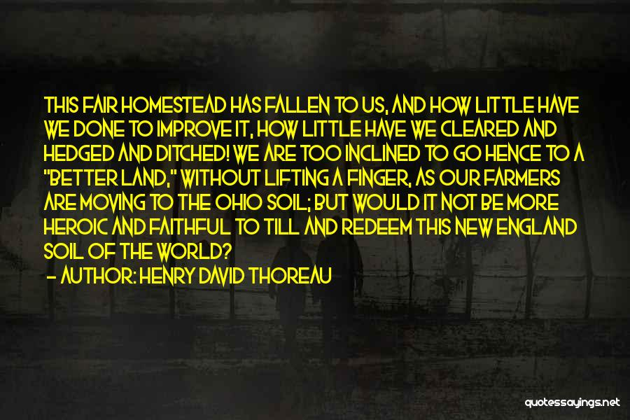Homestead Quotes By Henry David Thoreau