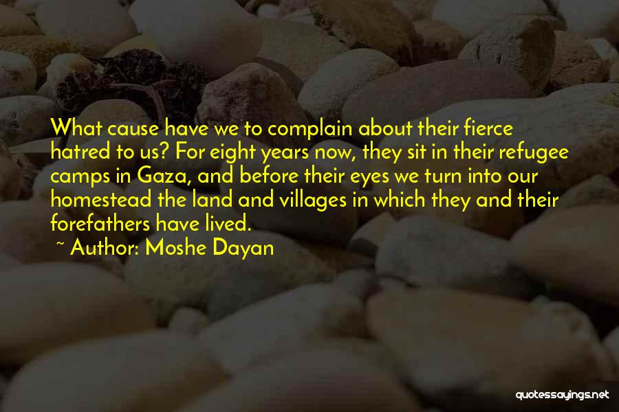 Homestead Quotes By Moshe Dayan