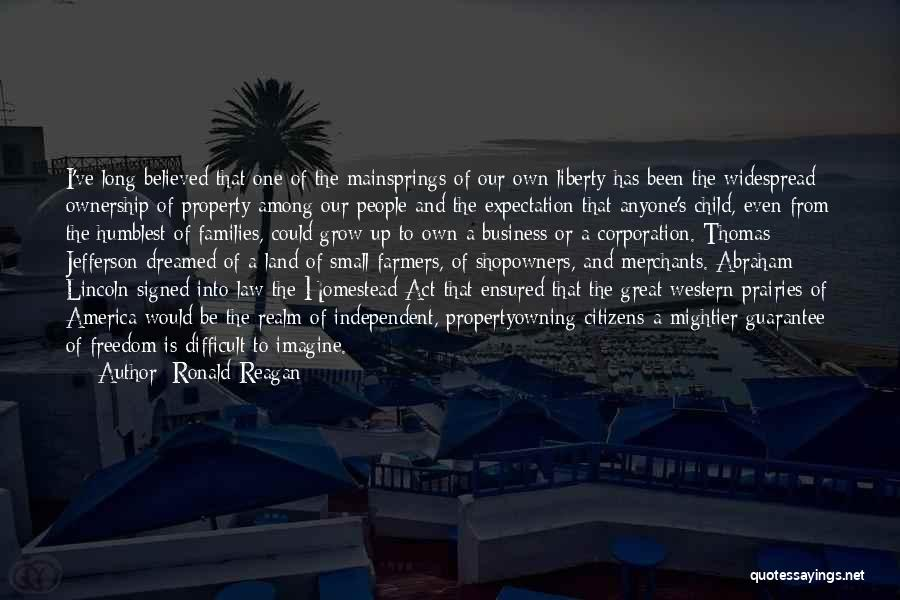 Homestead Quotes By Ronald Reagan