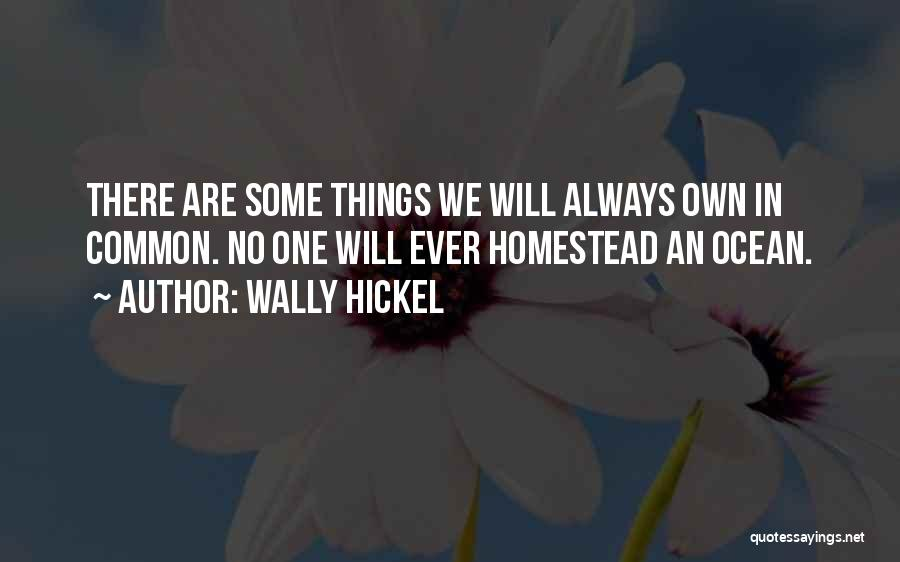 Homestead Quotes By Wally Hickel