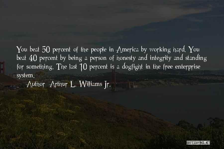 Honesty And Integrity Quotes By Arthur L. Williams Jr.