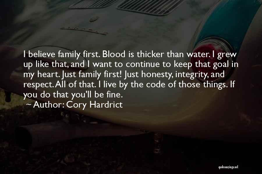Honesty And Integrity Quotes By Cory Hardrict