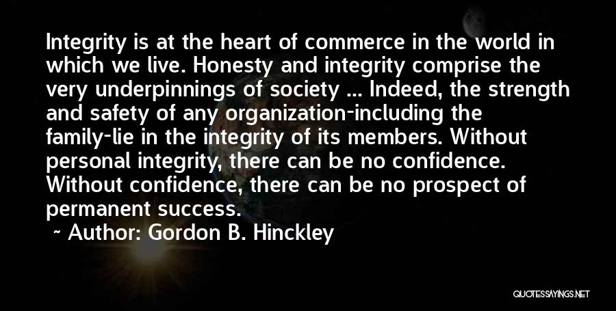 Honesty And Integrity Quotes By Gordon B. Hinckley