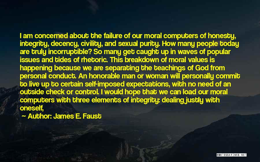 Honesty And Integrity Quotes By James E. Faust