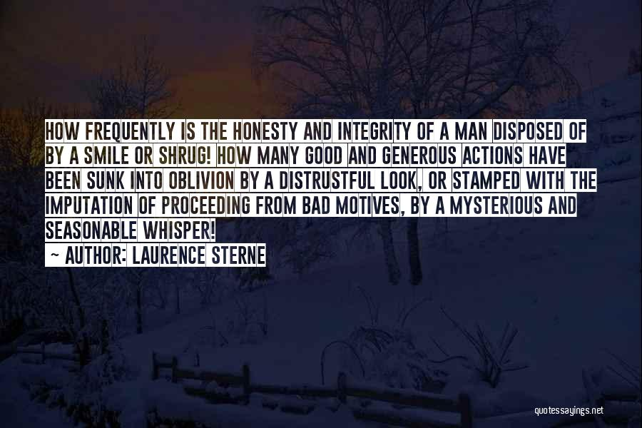Honesty And Integrity Quotes By Laurence Sterne