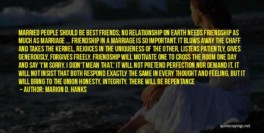 Honesty And Integrity Quotes By Marion D. Hanks